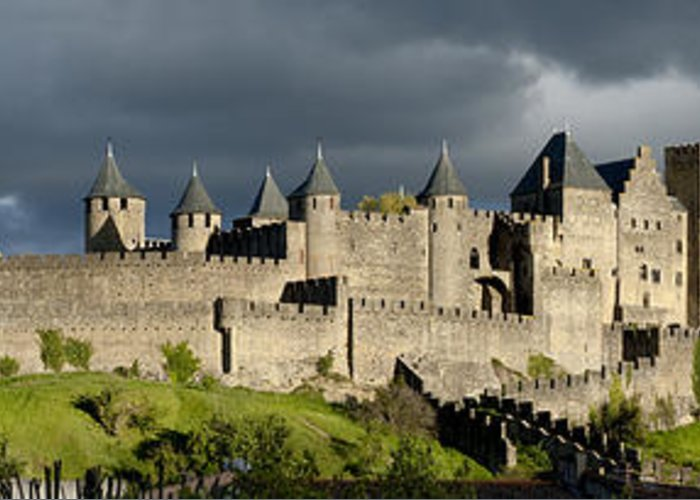 Carcassonne Greeting Card featuring the photograph Carcassonne Panorama by Robert Lacy