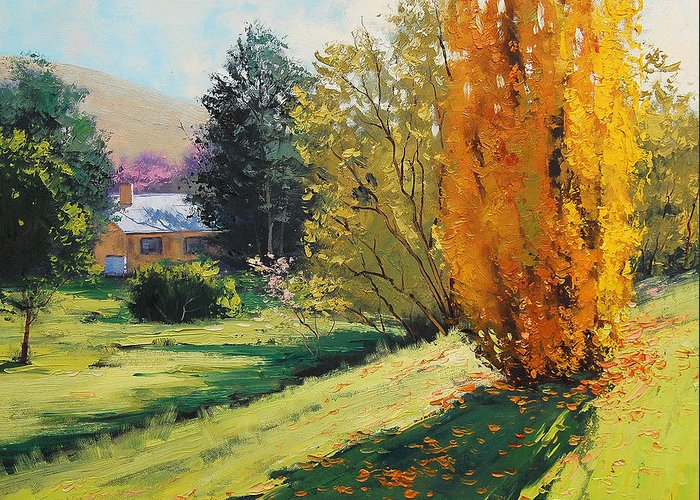 Fall Greeting Card featuring the painting Carcor Autumn by Graham Gercken