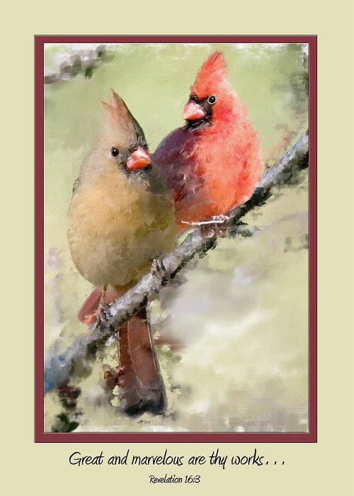 Birds Greeting Card featuring the photograph Card 0220 by Helen Ellis
