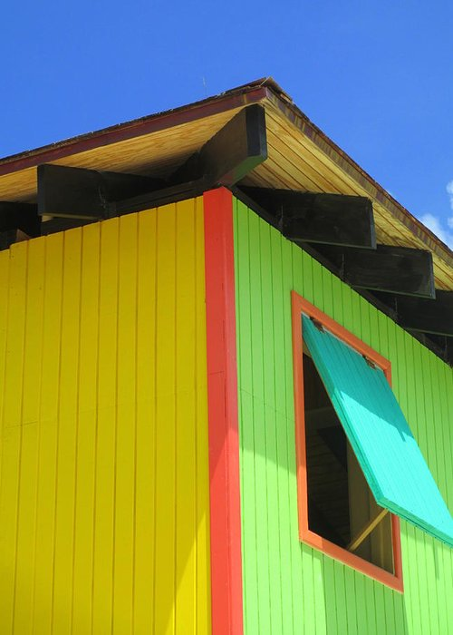 Caribbean Corner Greeting Card featuring the photograph Caribbean Corner 2 by Randall Weidner