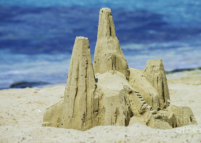 St. Croix Greeting Card featuring the photograph Caribbean Sand Castle by Betty LaRue