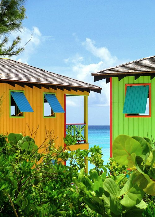 Caribbean Corner Greeting Card featuring the photograph Caribbean Village by Randall Weidner