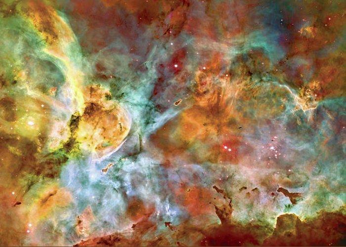 Universe Greeting Card featuring the photograph Carina Nebula - Interpretation 1 by Jennifer Rondinelli Reilly - Fine Art Photography