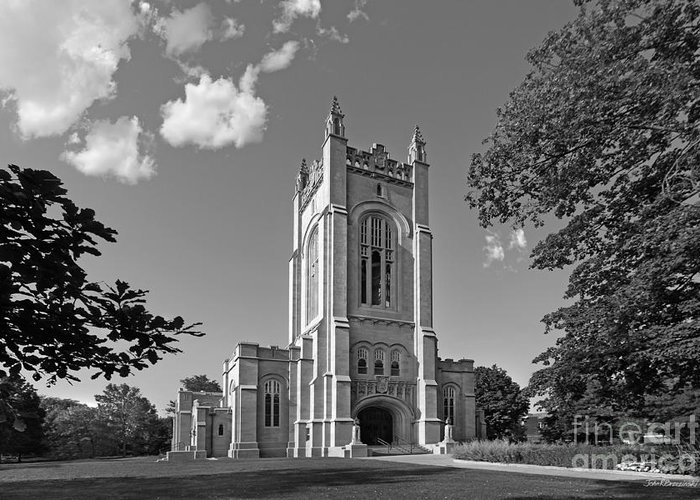Carleton Greeting Card featuring the photograph Carleton College Skinner Memorial Chapel by University Icons