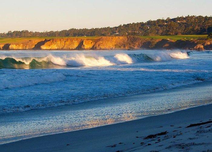 California Beach Greeting Card featuring the photograph Carmel Beach California by Mimi Saint Agneaux