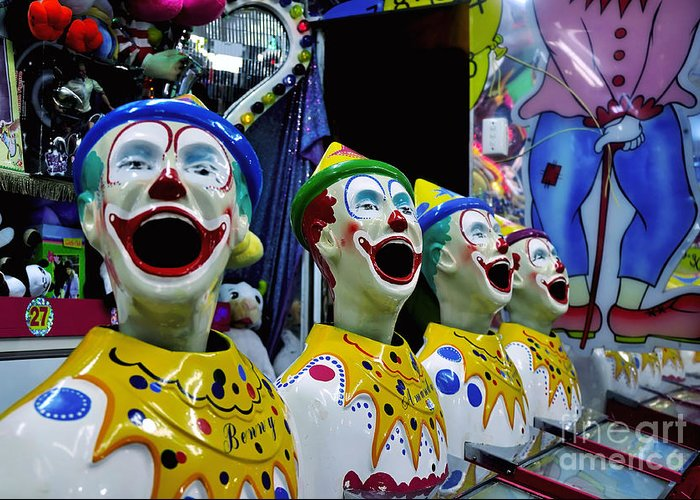 Photography Greeting Card featuring the photograph Carnival Clowns by Kaye Menner