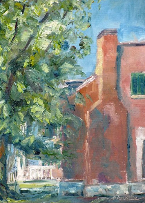 Carnton Greeting Card featuring the painting Carnton Plantation On A Spring Morning by Susan E Jones