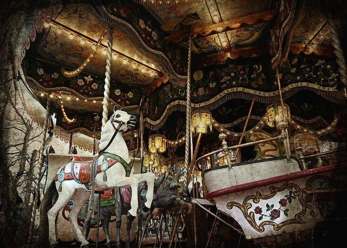 Carousel Greeting Card featuring the photograph Carousel by Barbara Orenya