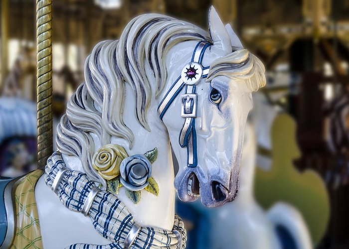 Amusement Greeting Card featuring the photograph Carousel Horse by Gej Jones