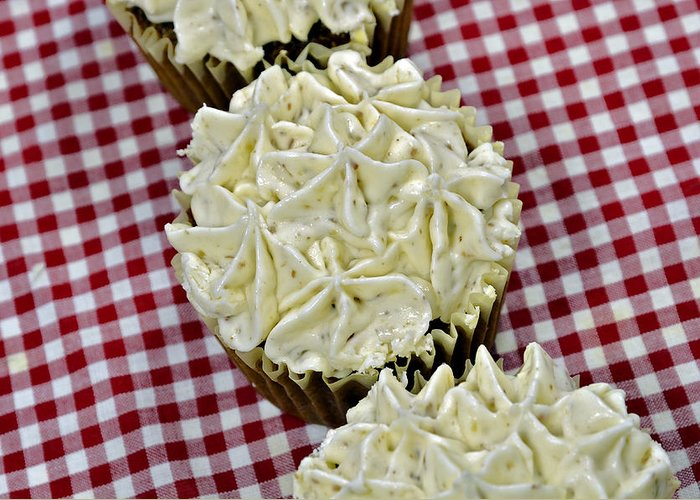 Baking Greeting Card featuring the photograph Carrot Cupcakes by Susan Leggett