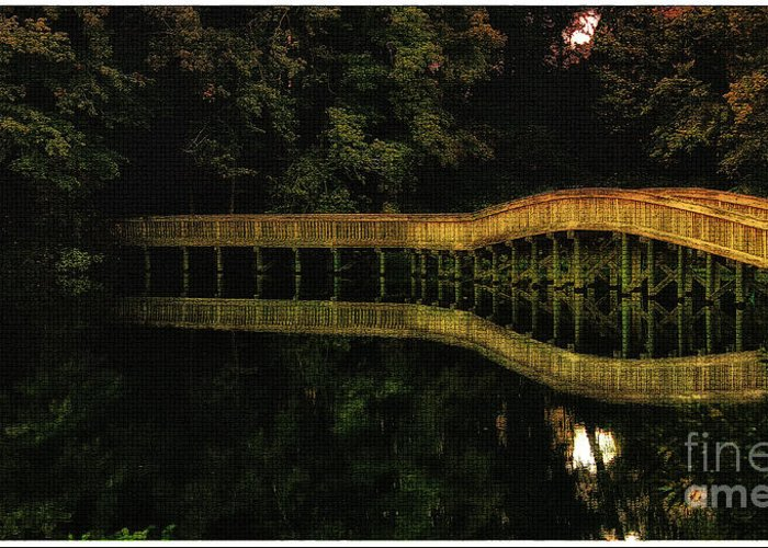 Wooden Bridge Greeting Card featuring the photograph Carry Me Back In Time by Olahs Photography
