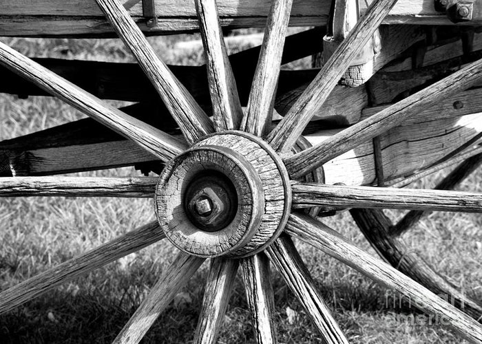 Cart Wheel Greeting Card featuring the photograph Cart Wheel by Mae Wertz