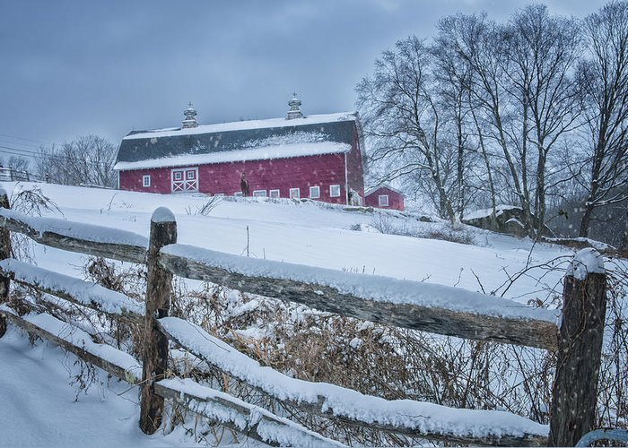 Kent Ct Greeting Card featuring the photograph Carter Farm - Litchfield Hills Winter Scene by Thomas Schoeller