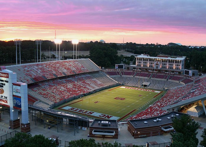 College Greeting Card featuring the photograph Carter-finley Stadium by Elevated Perspectives LLC