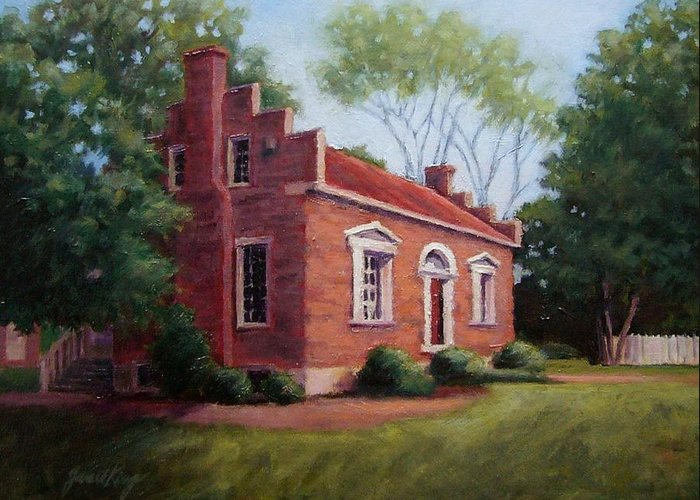 Carter House Greeting Card featuring the painting Carter House In Franklin Tennessee by Janet King
