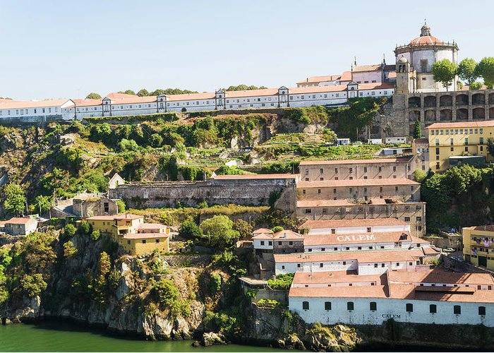 Clear Sky Greeting Card featuring the photograph Casa Calem, Port Wine Houses, Porto by John Harper