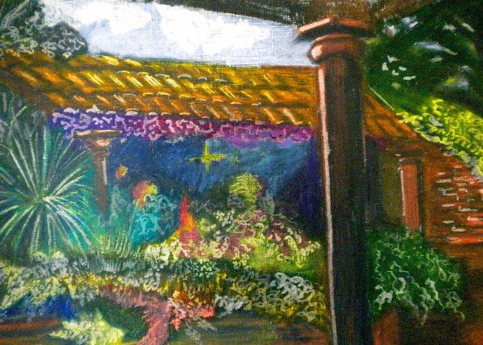 Casa Luna Greeting Card featuring the painting Casa Luna by Debi Starr