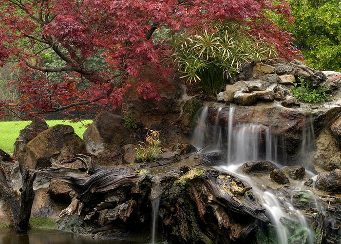 Cascading Greeting Card featuring the photograph Cascading Waterfall by Doug Dailey