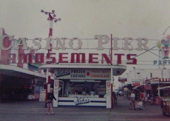 Seaside Heights Greeting Card featuring the photograph Casino Pier Amusements Seaside Heights Nj by Joann Renner