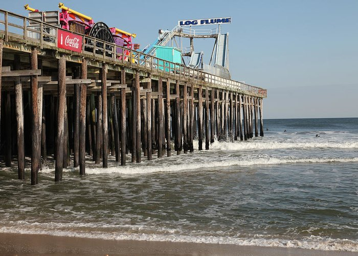 Seaside Greeting Card featuring the photograph Casino Pier Seaside Nj by Neal Appel