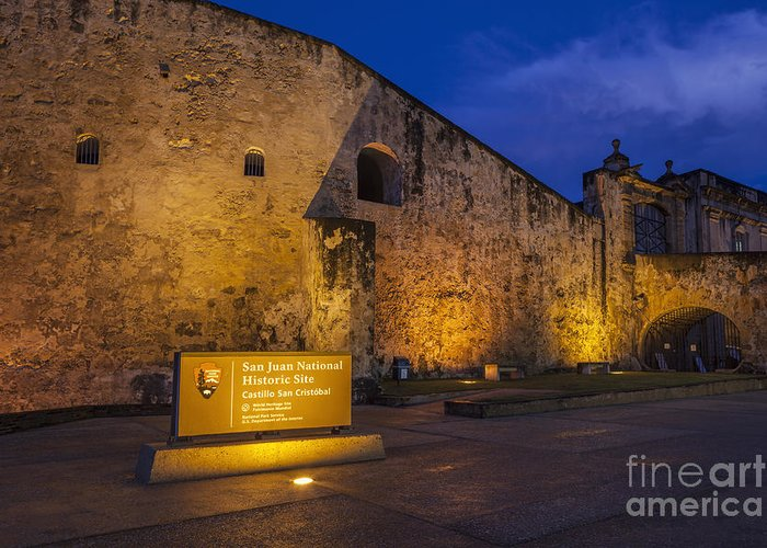 Built Structure Greeting Card featuring the photograph Castillo San Cristobal In Old San Juan Puerto Rico by Bryan Mullennix