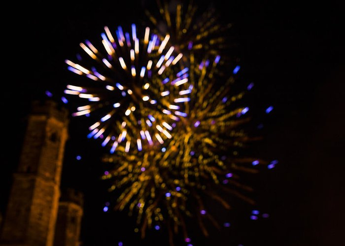 Multi Greeting Card featuring the photograph Castle Celebration by Patriotcalien