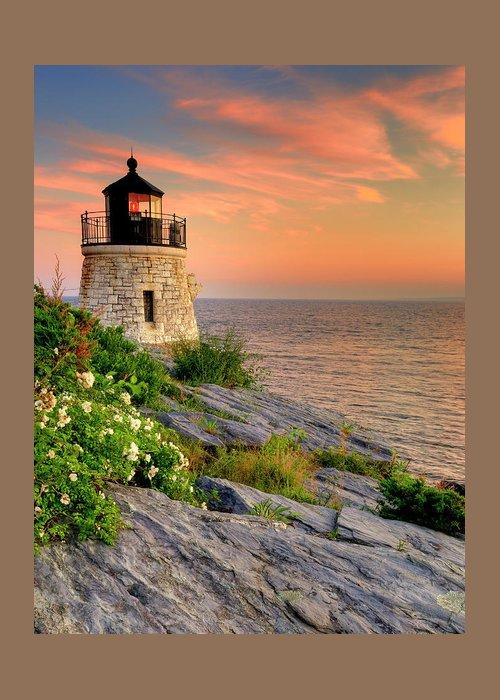 Lighthouse Greeting Card featuring the photograph Castle Hill Lighthouse-rhode Island by Thomas Schoeller