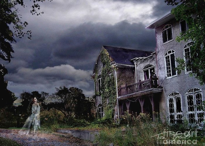Ghost Greeting Card featuring the photograph Castle House by Tom Straub
