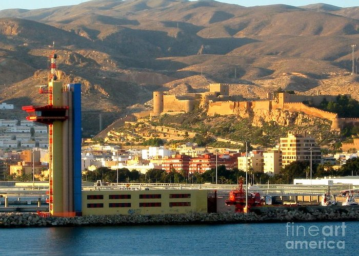 Almeria Greeting Card featuring the photograph Castle In Almeria Spain by Phyllis Kaltenbach