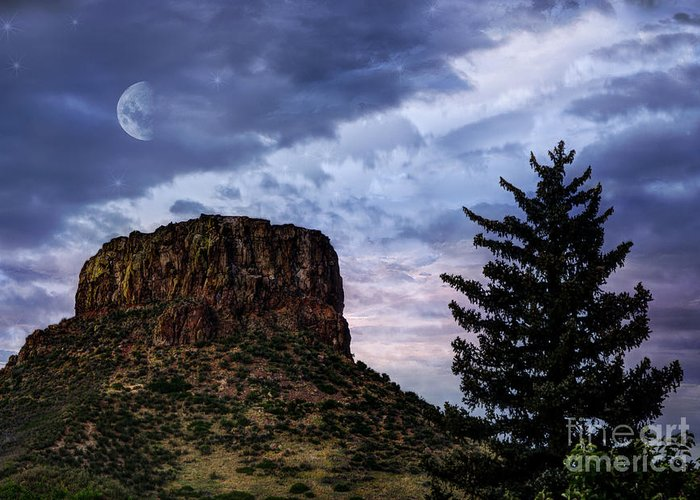 Beauty In Nature Greeting Card featuring the photograph Castle Rock by Juli Scalzi
