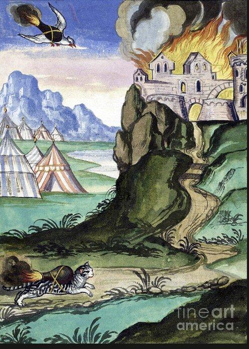 Castles Burning Greeting Cards