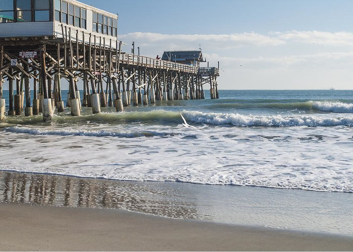 Catch Of The Day Cocoa Beach Pier Florida Seascape Greeting Card featuring the photograph Catch Of The Day by Brian Harig