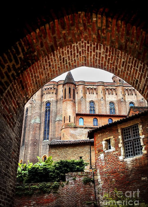 Albi Greeting Card featuring the photograph Cathedral Of Ste-cecile In Albi France by Elena Elisseeva