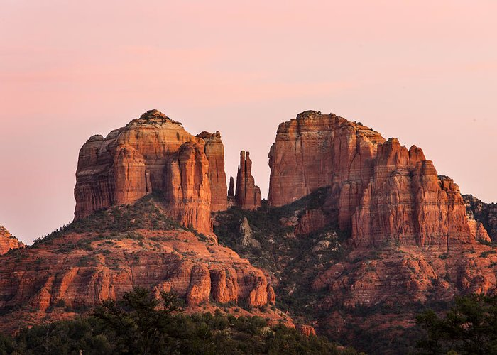 Sedona Greeting Card featuring the photograph Cathedral Rock Sunset by Mary Jo Allen