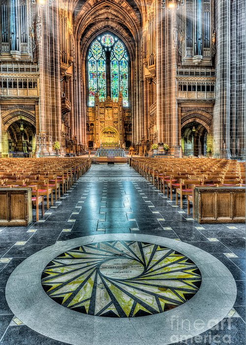 Aisle Greeting Card featuring the photograph Cathedral Way by Adrian Evans
