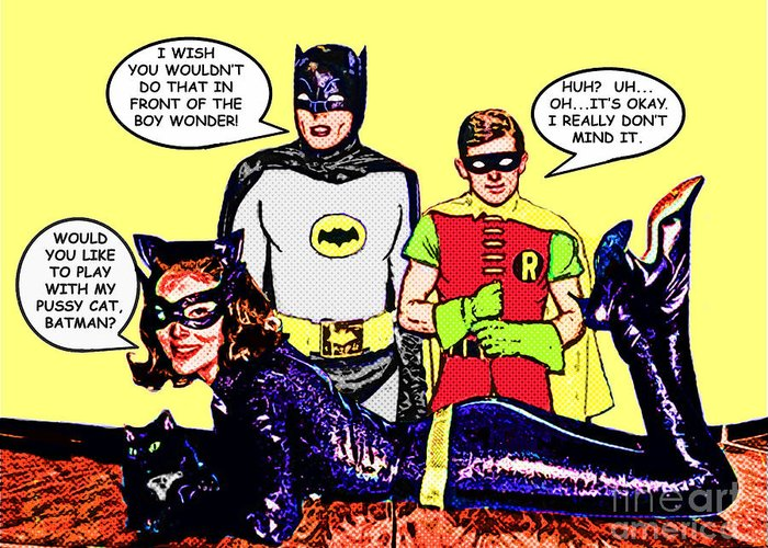 Batman and catwoman flirting