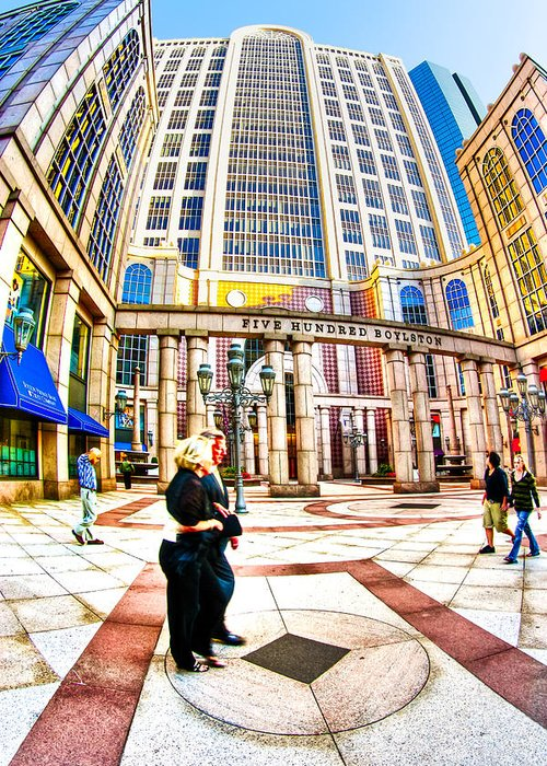 Boston Greeting Card featuring the photograph Caught In The Geometry Of Boylston Street by Mark E Tisdale