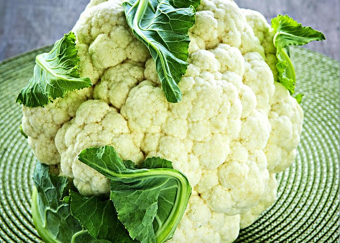 Cauliflower Greeting Card featuring the photograph Cauliflower by Elena Elisseeva