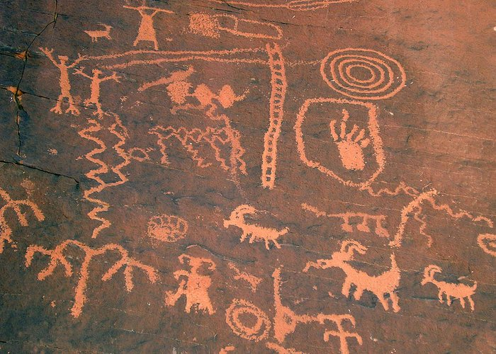 Boone Greeting Card featuring the photograph Caveman Paintings by Boone Fowler