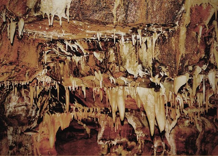 Caverns Greeting Card featuring the photograph Cavern Beauty by Dan Sproul
