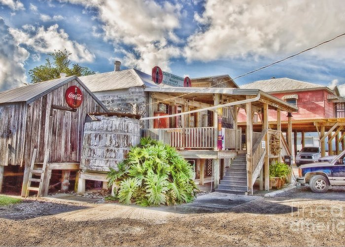 Grocery Store Greeting Card featuring the photograph Cecil's Grocery by Scott Pellegrin