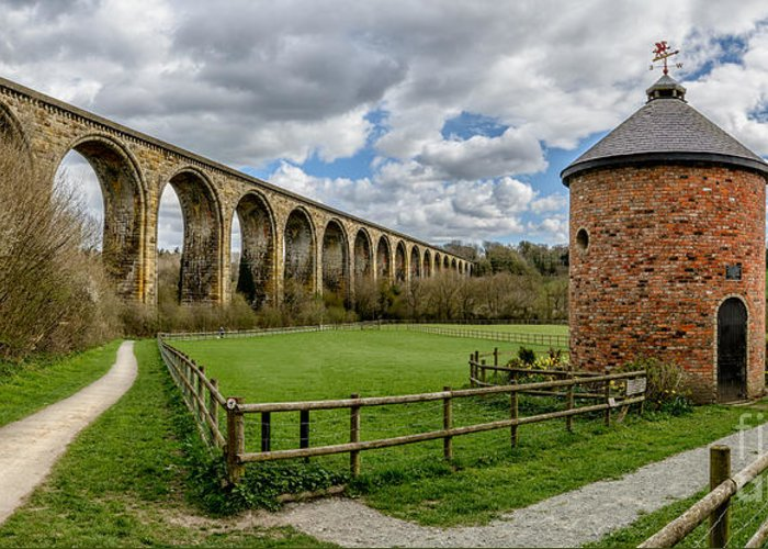 Arch Greeting Card featuring the photograph Cefn Viaduct by Adrian Evans