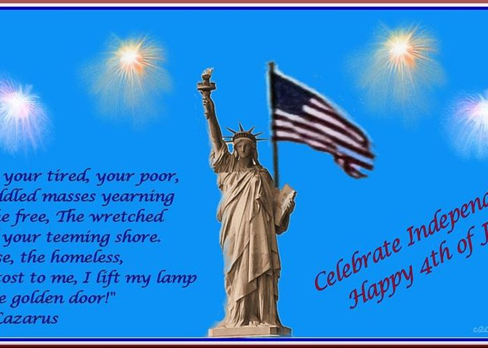 Independence Greeting Card featuring the photograph Celebrate Independence by Tara Potts