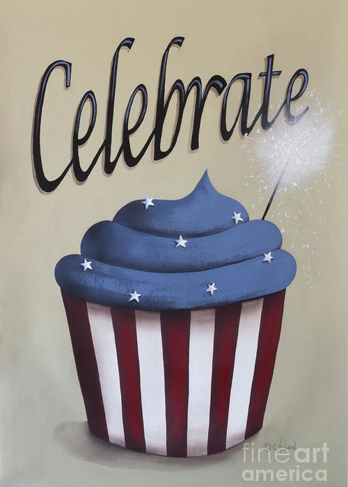 Art Greeting Card featuring the painting Celebrate The 4th Of July by Catherine Holman