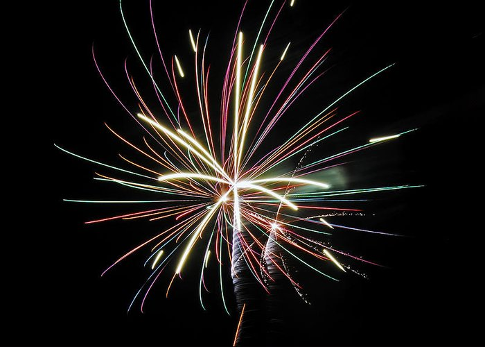 Fireworks Greeting Card featuring the photograph Celebration by Gene McKinley
