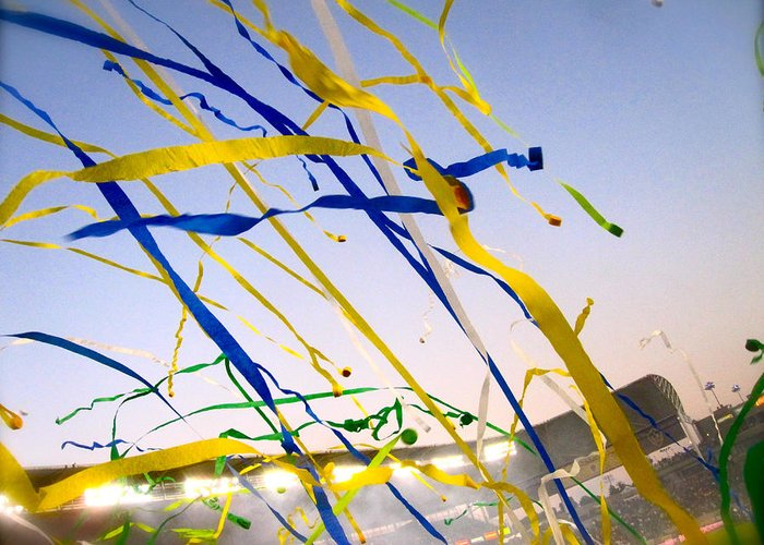 Streamers Greeting Card featuring the photograph Celebration by Jon Berry OsoPorto