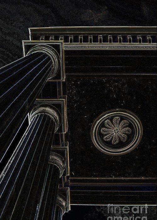 Celestial Pillars.celestial Greeting Card featuring the photograph Celestial Pillars by Inspired Nature Photography Fine Art Photography