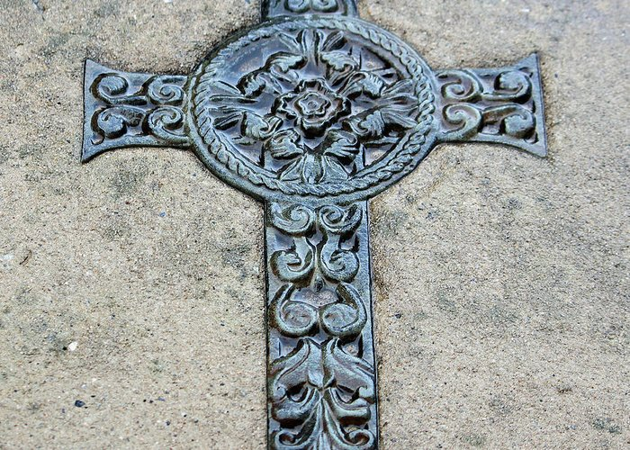 Celtic Greeting Card featuring the photograph Celtic Cross IIi by Suzanne Gaff
