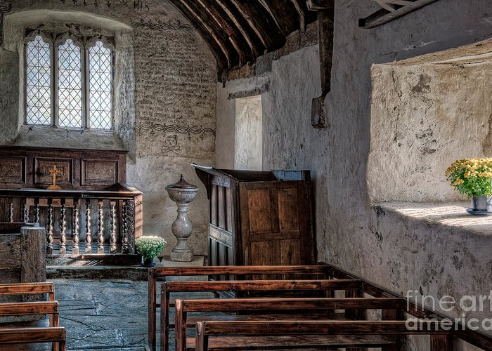 St Celynnin Church Greeting Card featuring the photograph Celynnin Church V2 by Adrian Evans