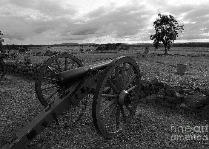 Gettysburg Greeting Card featuring the photograph Cemetery Ridge Gettysburg Battlefield by James Brunker